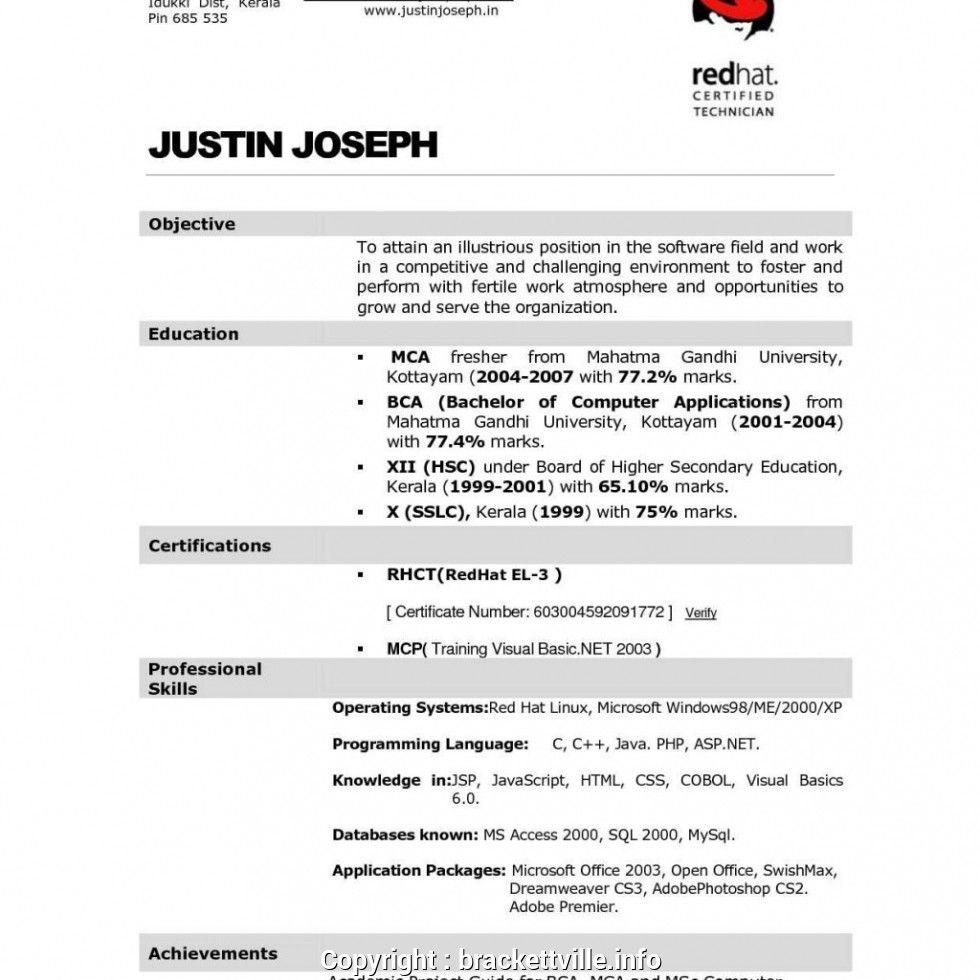 Kerala Resume Format Resume Good Cv