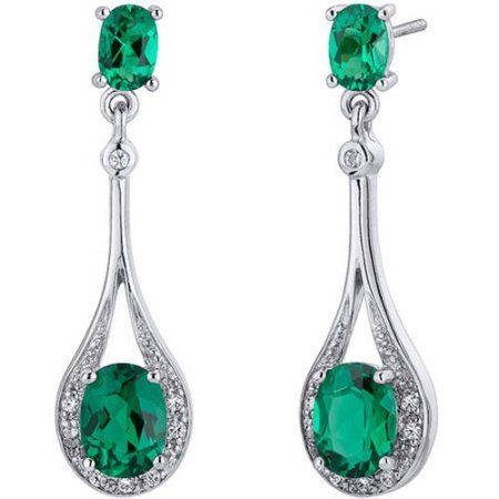 Jewelry Emerald Earrings Sterling Silver Earrings Sapphire