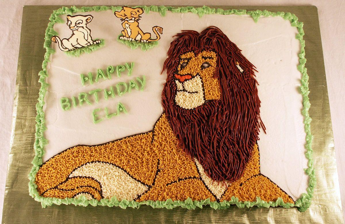 Simba The Lion King Cake for my boys Pinterest Lion king cakes