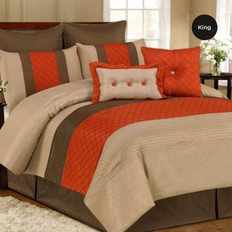 King Size Oversized 8pc Comforter Set Orange Retail Price 229 99 Our Price Is 89 00 Only At Nomorerack Com Dormitorios Camas Ropa De Cama
