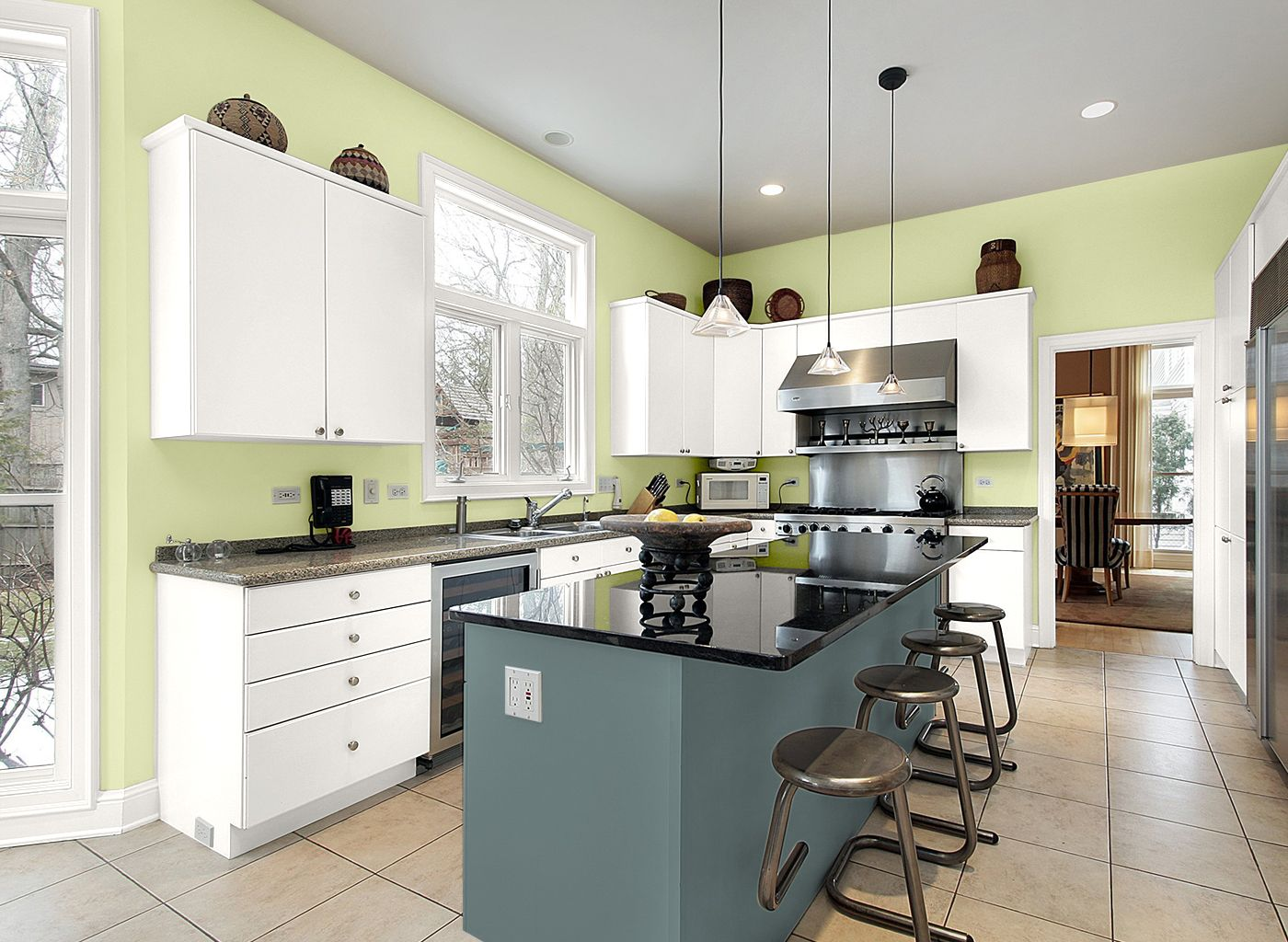 Kitchen in Spring Cactus | Kitchen by Julianne Tamasy | Pinterest ...