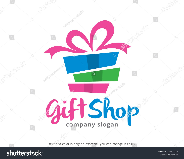 Gift Shop Logo Symbol Template Design Vector Emblem Design Concept Creative Symbol Icon Sponsored Sponsored Sym Gift Shop Company Slogans Logo Design