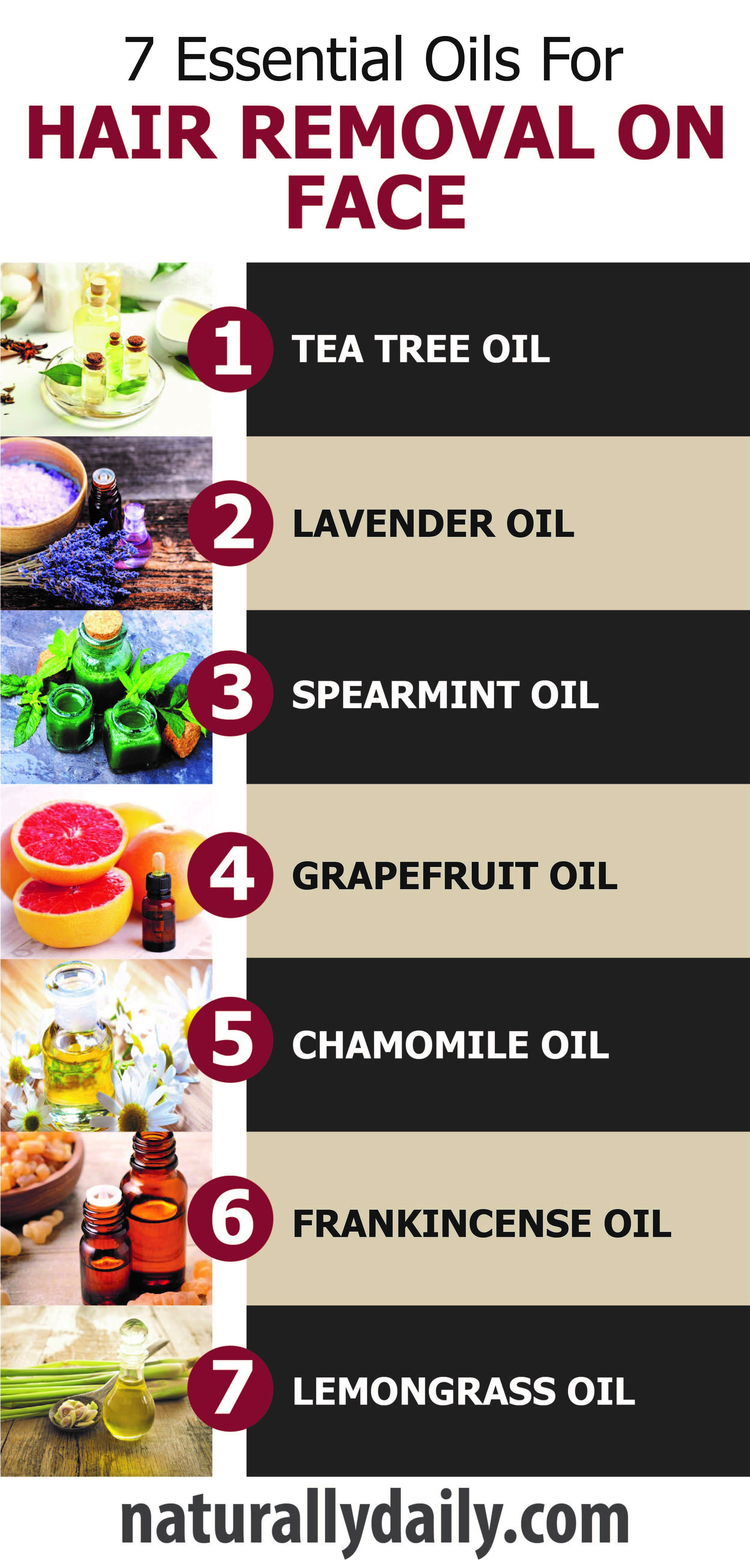 7 Essential Oils for Hair Removal on Face #hairremoval