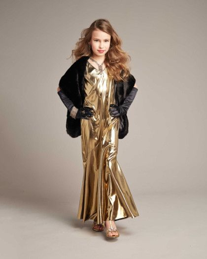 Gold Movie Star Costume For Girls The Bethlehem Project Costume