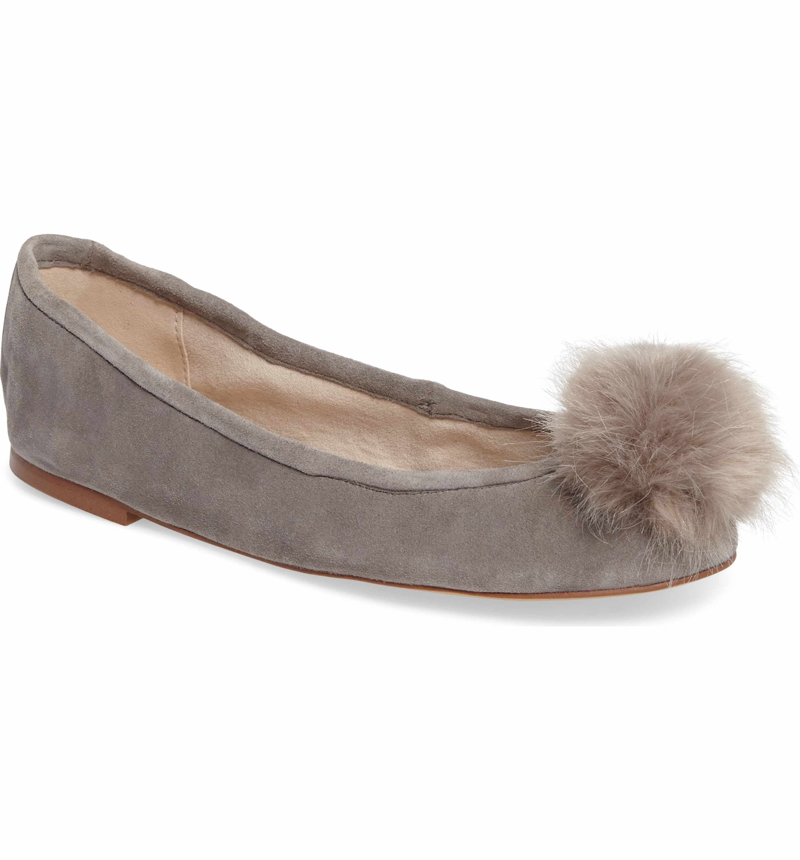 Main Image - Sam Edelman Farina Flat with Faux Fur Pompom (Women)