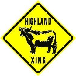 HIGHLAND CROSSING cattle ranch beef sign by Texsign, http