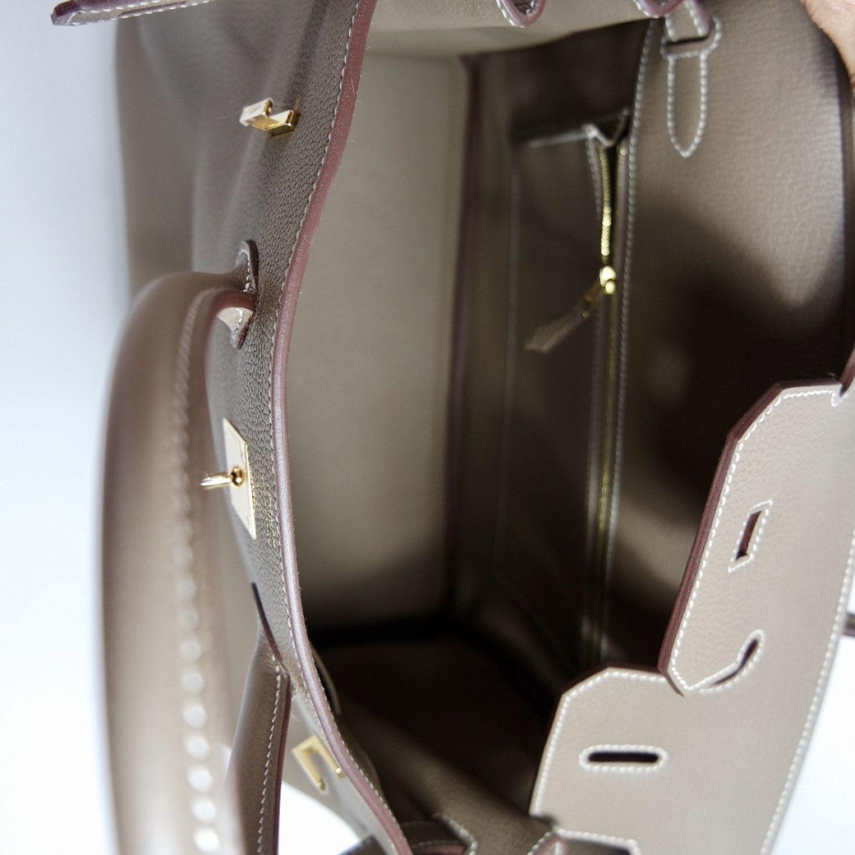 Birkin 35 Leather Handbag Hermes Anthracite In Leather 5214643 In 2020 Leather Handbags Hermes Bag Birkin Hermes Birkin Bag 35
