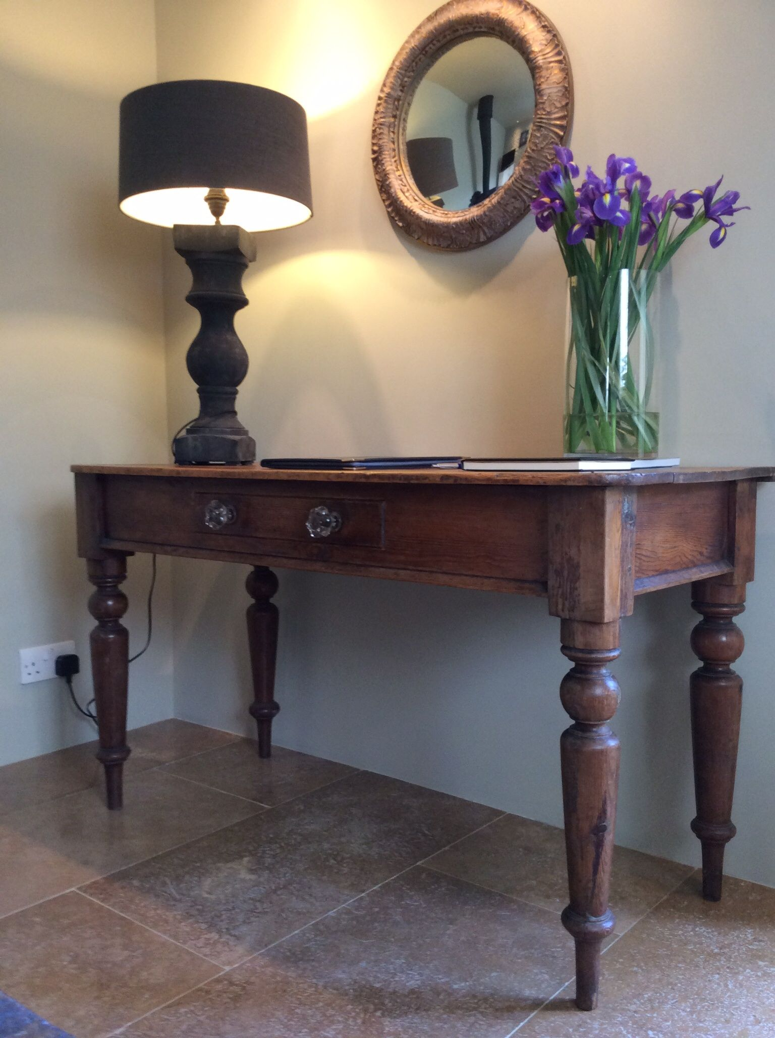 Balustrade table lamp from Anton and K, Winchcombe.