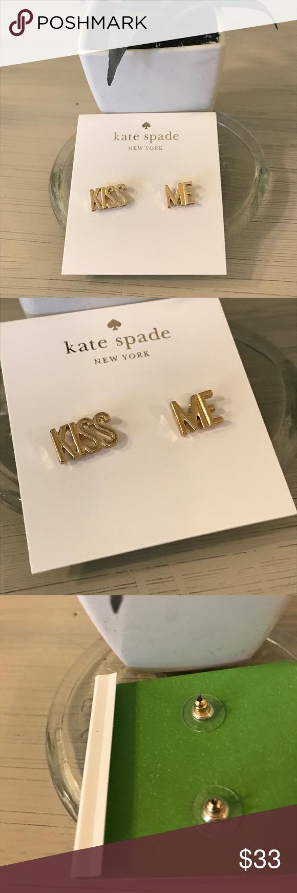 Kate Spade New York  Kiss Me earrings Kate Spade Kiss Me earrings. Gold. Like new. 14k gold plated Kate Spade Jewelry Earrings