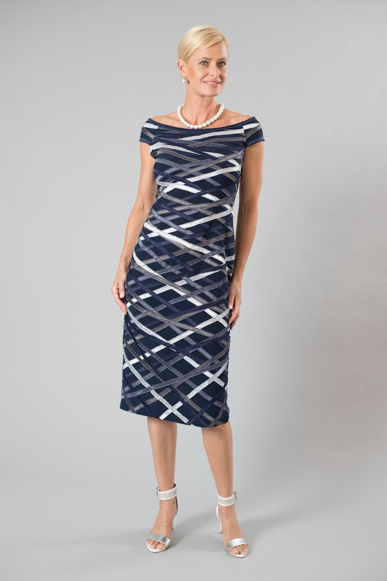 536e9e276da Living Silk - specialising in navy and silver dresses and two piece outfits  with sleeves for the modern and elegant mother of the bride and mother of  the ...