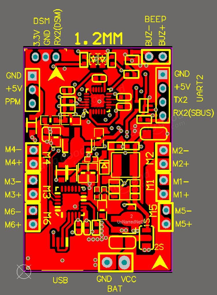 Eachine 32bit ACRO NAZE32_BRUSH Brushed Flight Control Board Base on Naze32 for DIY Micro FPV Frame