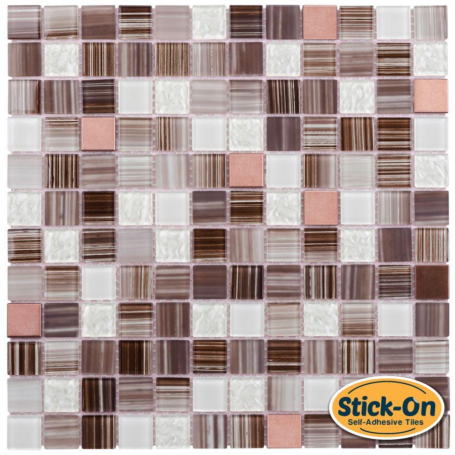 Peel And Stick Glass Mosaic Tile Bamboo Peel Stick Tiles
