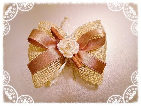 Fiocco In Juta Portaconfetti Youtube Crochet Flower Tutorial Diy Bows Crafts