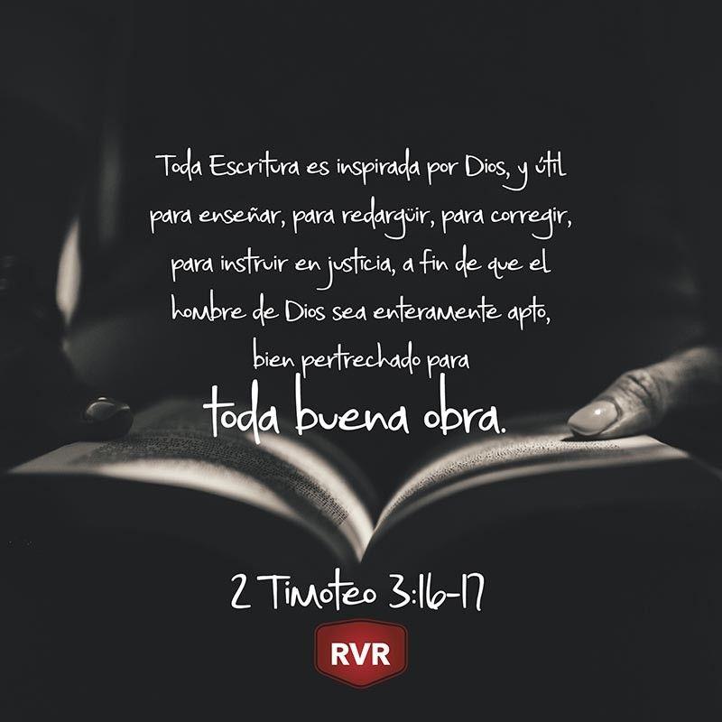 Rvr Versículo Bíblico Diario 2 Timoteo 3 16 17 Versículos Bíblicos Diarios Versículos Bíblicos Mensajes De La Biblia