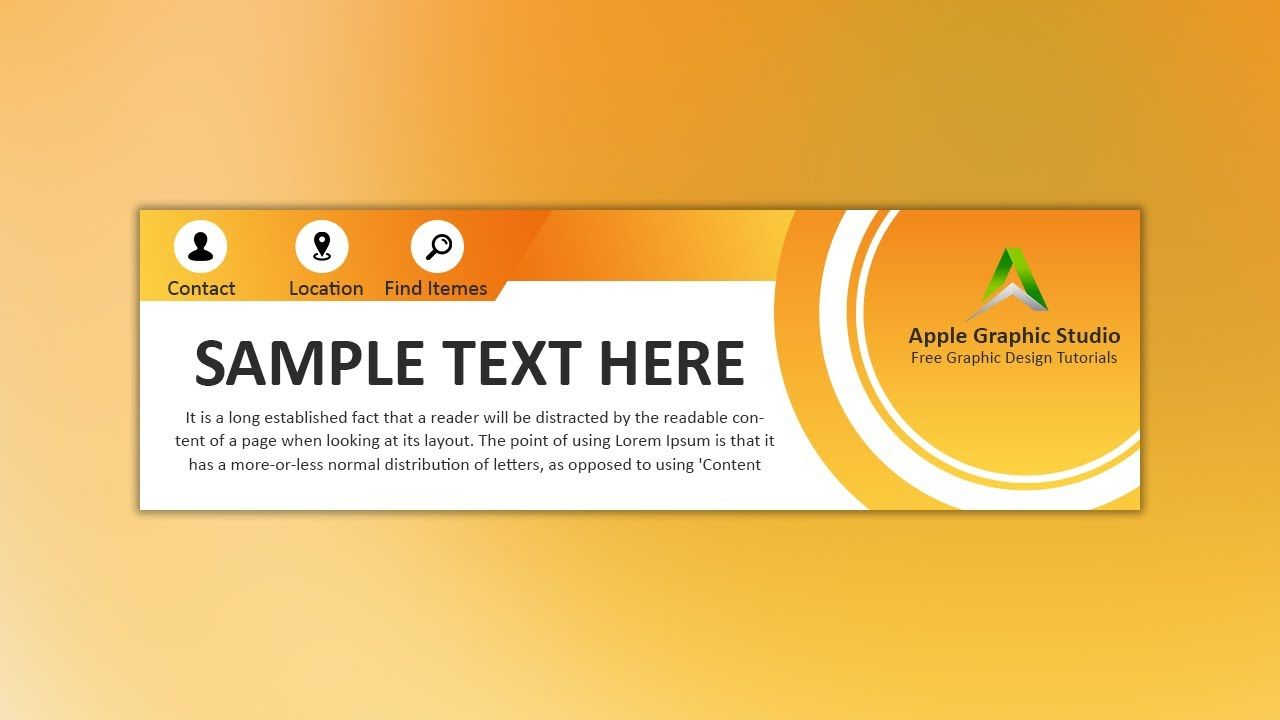 How To Design Professional Web Banner Photoshop Tutorial Web Banner Design Web Banner Banner Design