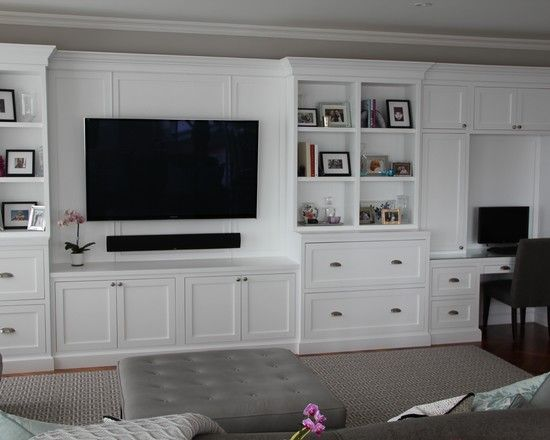 Basement Remodeling Boston Decor media room tv above fireplace design, pictures, remodel, decor and