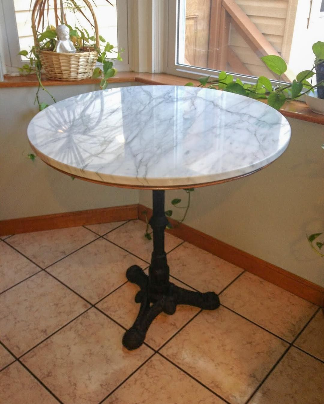 Tablebases Com On Instagram A Marble Bistro Table With Our Bistro 3 Base Made Diy Style On A B Marble Bistro Table Kitchen Table Marble Dining Table Marble
