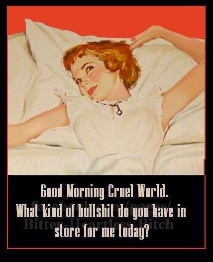 Good Morning Cruel World Morning Quotes Funny Funny Quotes Good Morning Funny