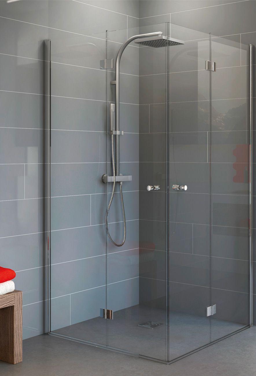 Duschkabine Fünfeck 80 x 80 x 190 cm Duschkabine