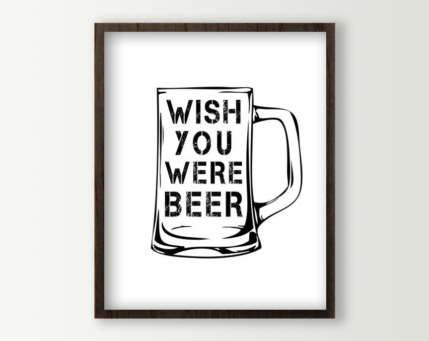 Beer Signs Poster Wall Decor By Daphnegraphics