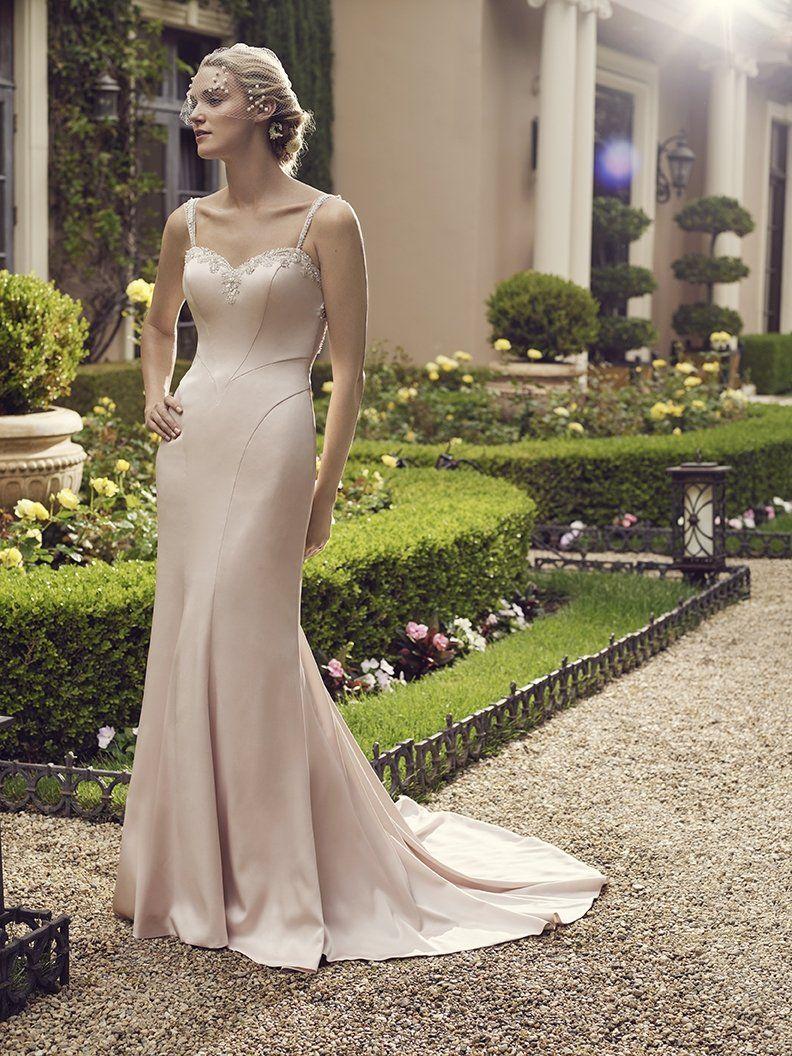 Casablanca Satin Fit and Flare Bridal Gown Primrose 2235