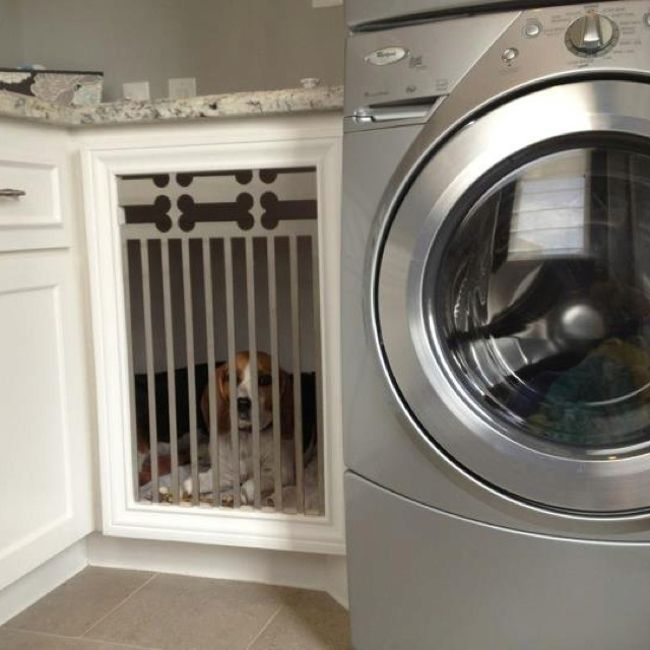 built in dog beds laundry room dog bed with dogbone motif metal grate