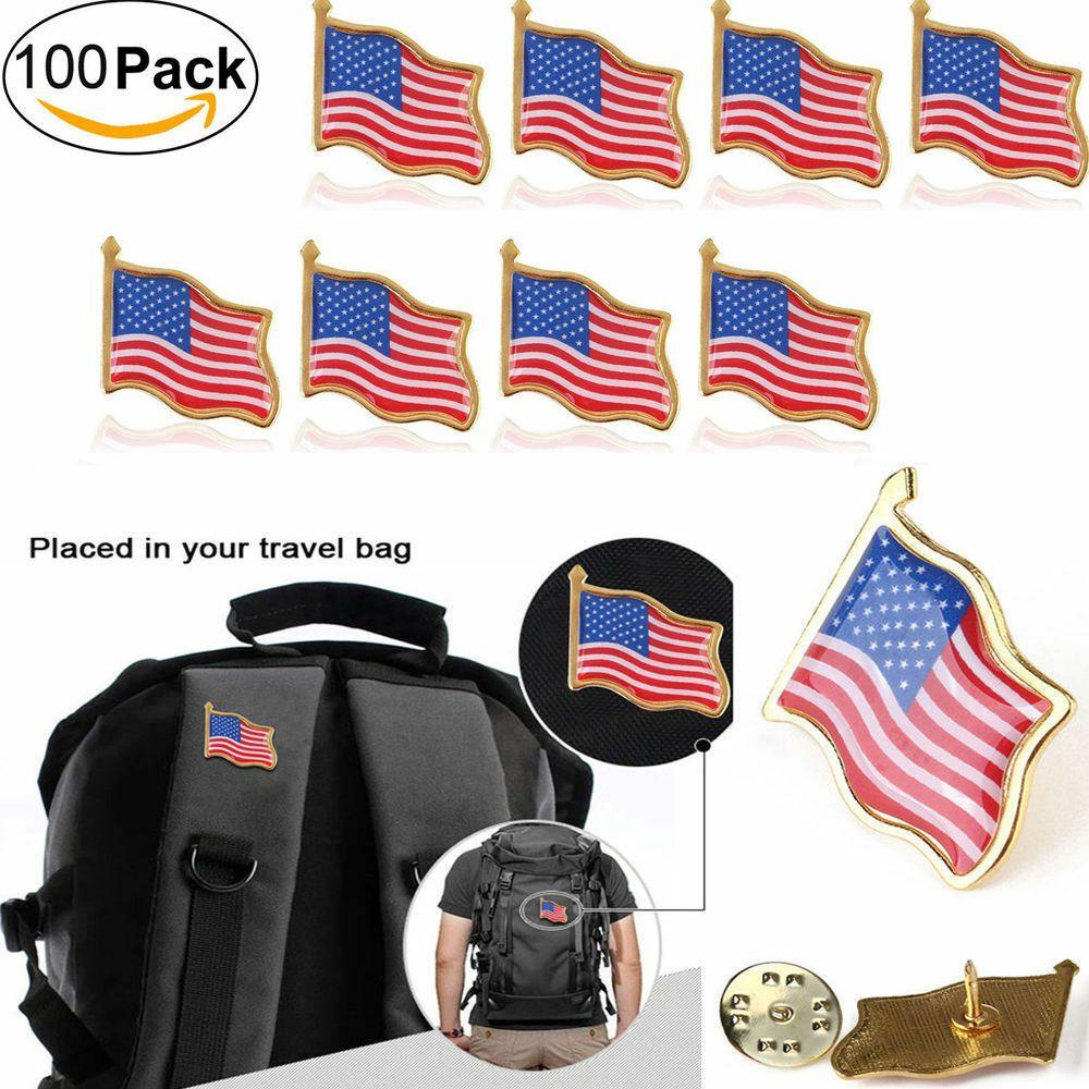 Ebay Sponsored 100pcs Us Usa American Flag Lapel Pins United States Usa Hat Tie Tack Badge Pin American Flag Lapel Pin Flag Lapel Pins Lapel Pins