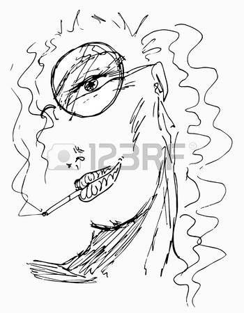 dibujo cara mujer: dibujo de rostro de mujer sobre fondo blanco ...