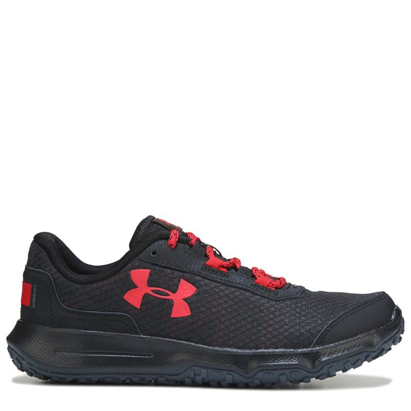 martillo Rezumar vacante  Under Armour Men's Toccoa Trail Running Shoes (Black/Red) | Trail running  shoes, Best trail running shoes, Running shoes fashion