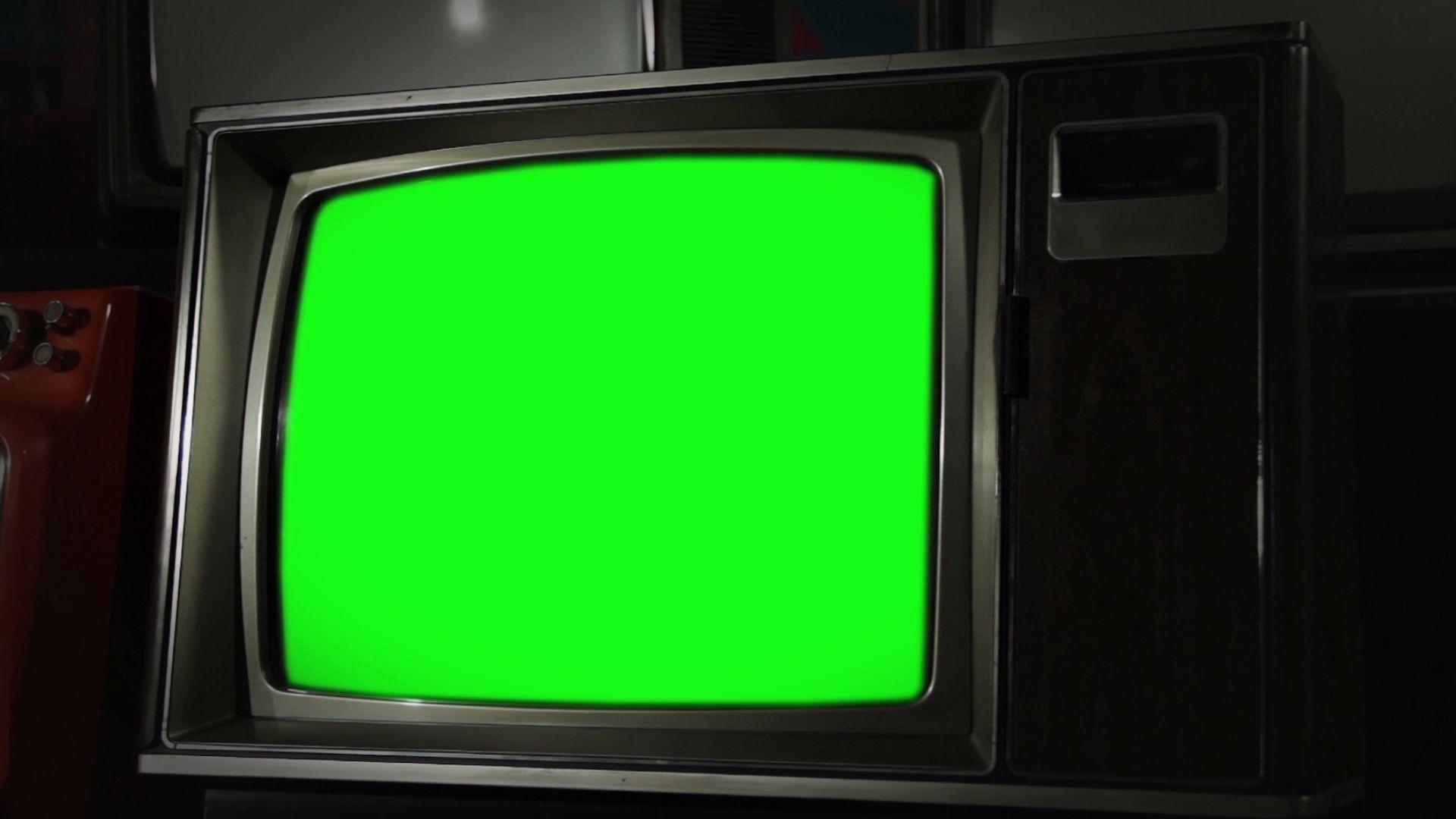 Vintage Green Screen Tv Stock Footage Ad Screen Green Vintage Footage Vintage Tv Greenscreen Chroma Key