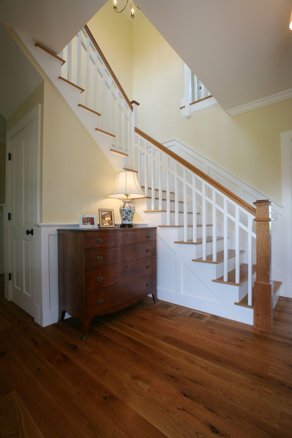 Angled Staircase In This Cape Cod Luxury Home With