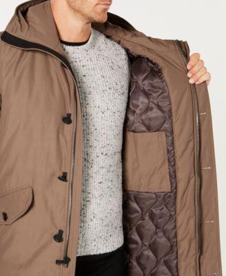 390039bfff9 Michael Kors Men's Modern-Fit Hooded All Weather Anorak Raincoat -  Tan/Beige XXL