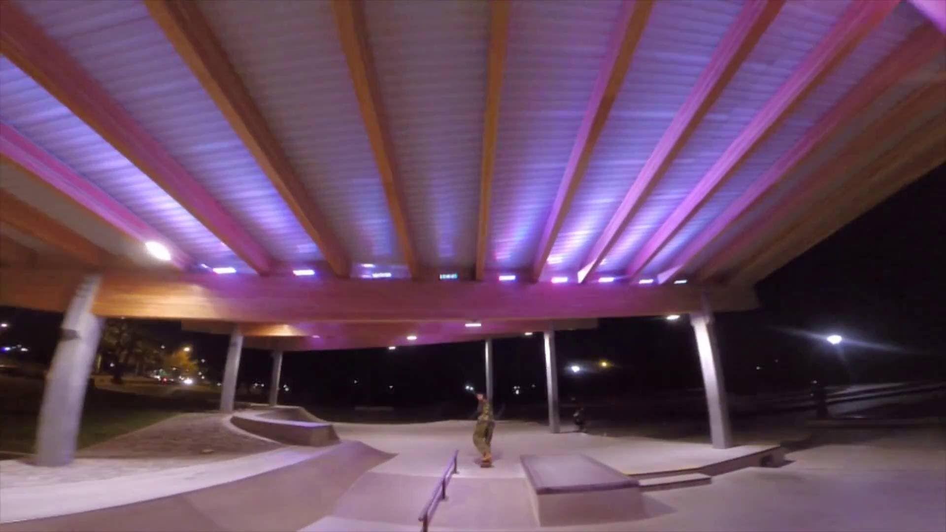 Vortex 250 pro - Cloverdale skatepark @ night
