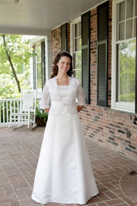 Modest Wedding Dresses With 3/4 Sleeves - Missy Dress