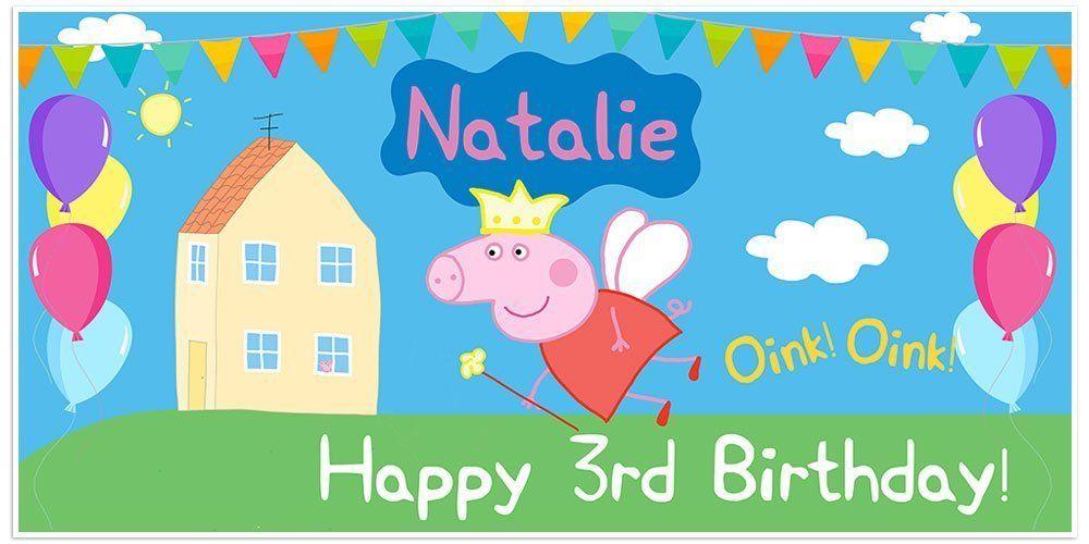 Peppa Pig Birthday Sign Peppa