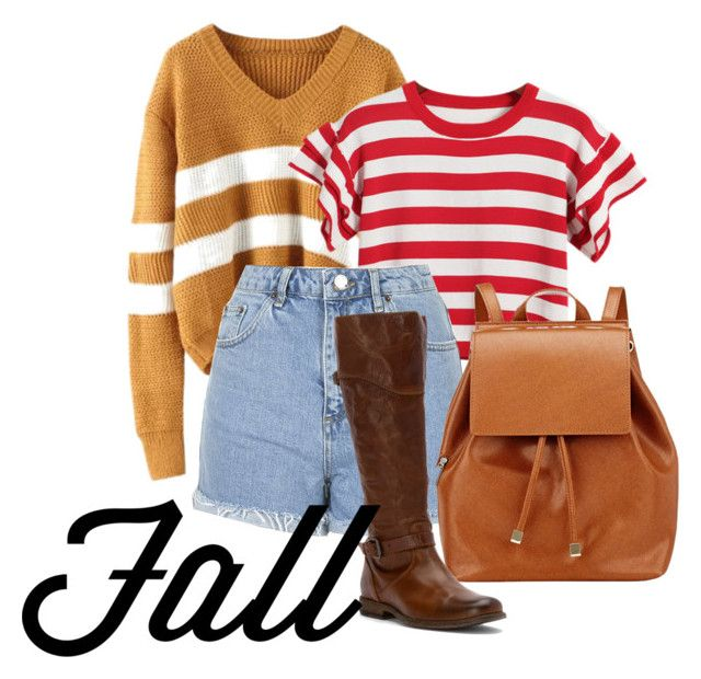 """""""Beginning of Fall"""" by lindsaywittaa on Polyvore featuring Chicnova Fashion, Topshop, Barneys New York and Frye"""