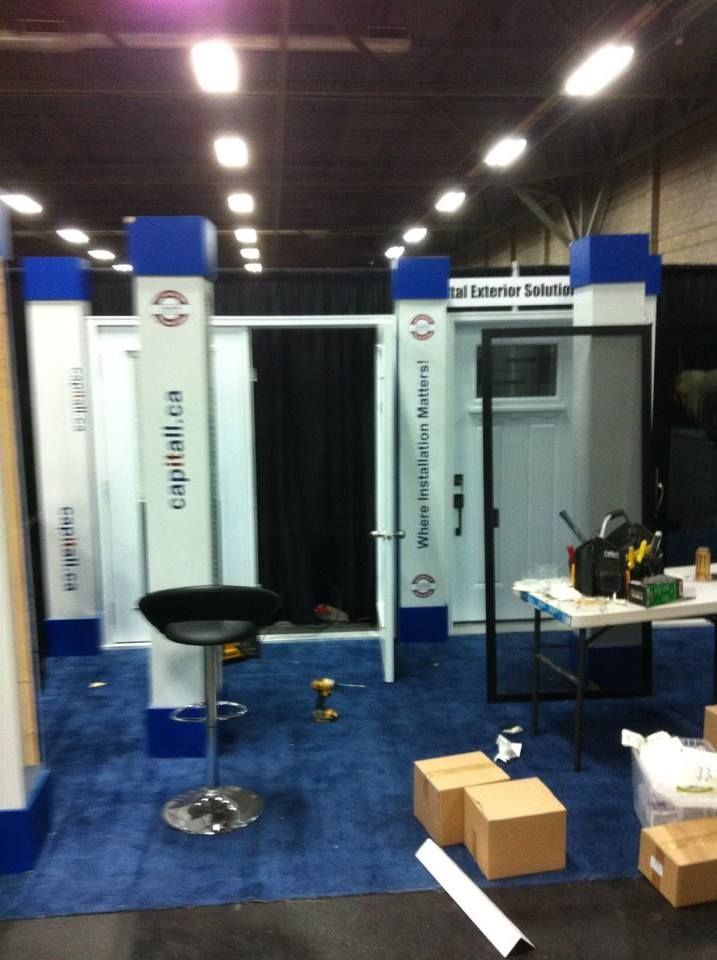 Setting up for the Edmonton Home Show more visit httpswww