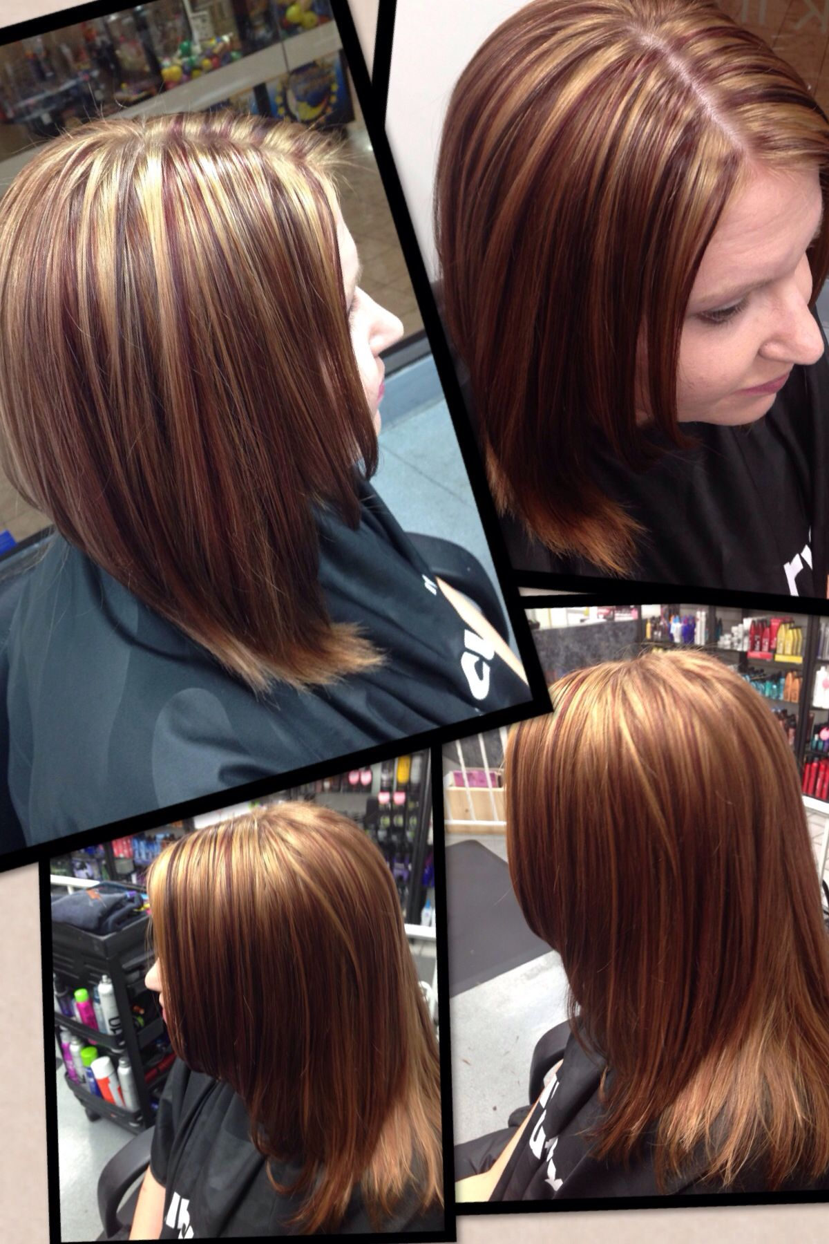 Lowlights For Fall 2013 Copper Brown And Red Violet Hair By Lana
