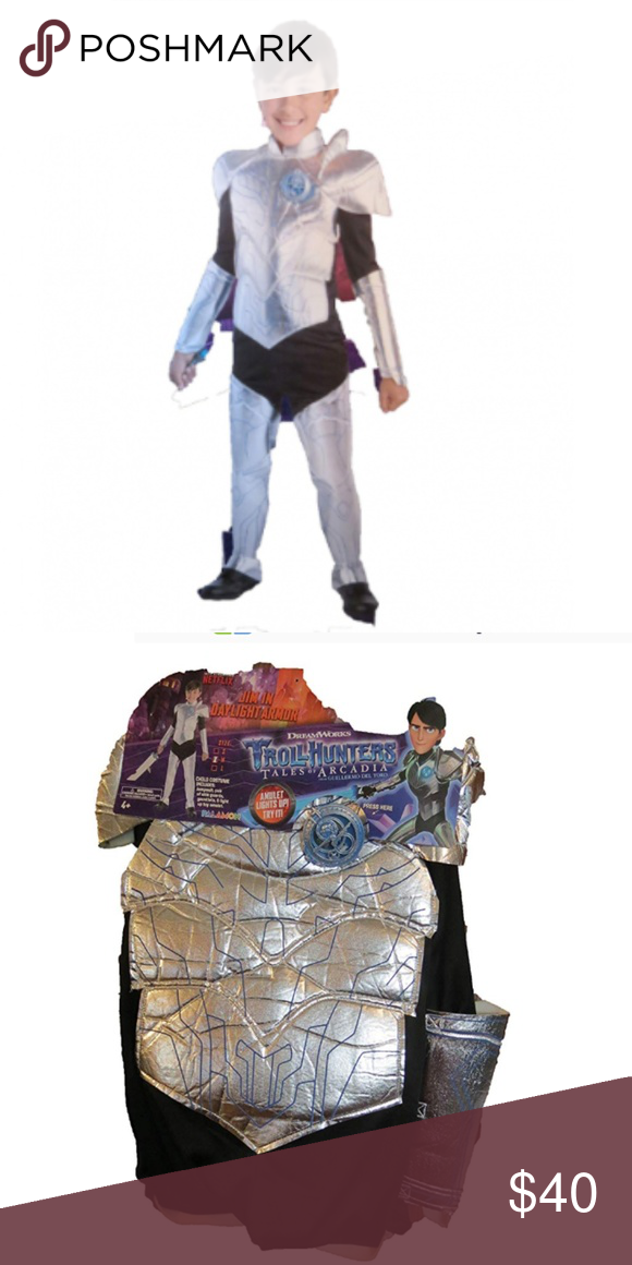 Dreamworks Troll Hunters Tales Of Arcadia Jim In Daylight Armor Boys Costume New