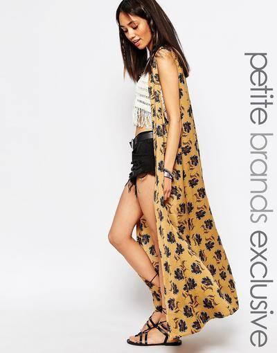 Glamorous Petite Maxi Kimono In Floral Print at asos.com #covetme