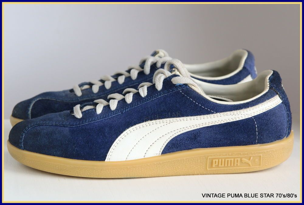 9aaad4382389 PUMA VINTAGE BLUE STAR SNEAKERS 70 s 80 s RETRO EXCELENT CONDITION TRAINERS   PUMA  Trainers