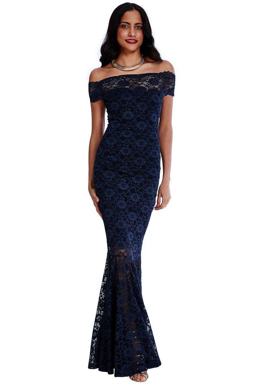 bb2690a914bd Wholesale Bardot Lace Maxi Dress - City Goddess