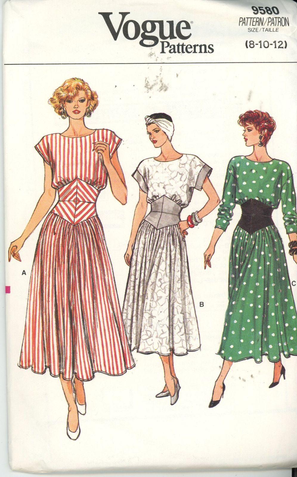 Vogue 9580 ladies dresses rare vintage sewing pattern sizes 8 vogue 9580 ladies dresses rare vintage sewing pattern sizes 8 10 jeuxipadfo Choice Image
