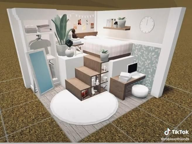 Credits To Robloxnfriends On Tiktok Video In 2021 Tiny House Layout Simple Bedroom Design House Decorating Ideas Apartments