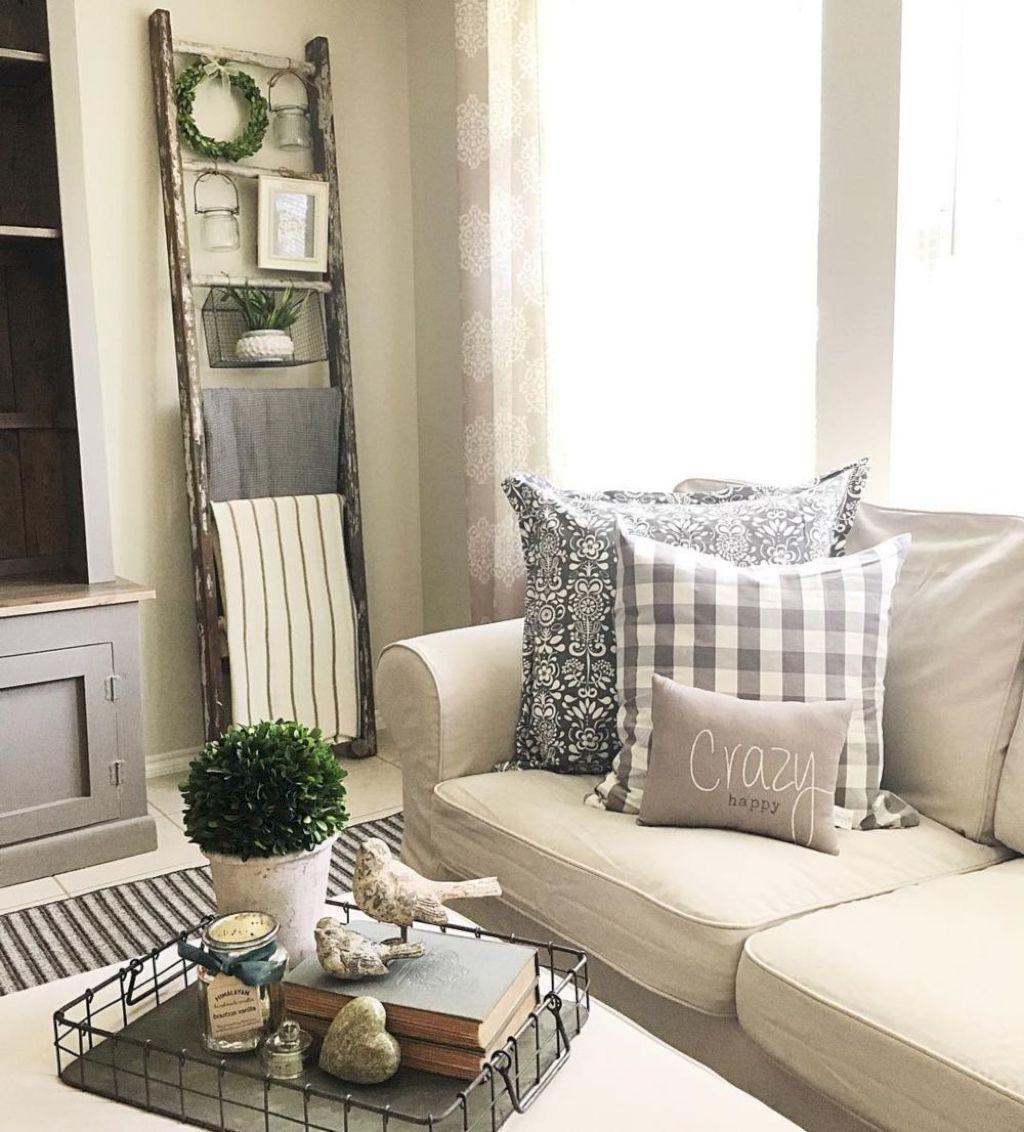 42 Rustic Farmhouse Living Room Decor Ideas | Casa de Mejia ...