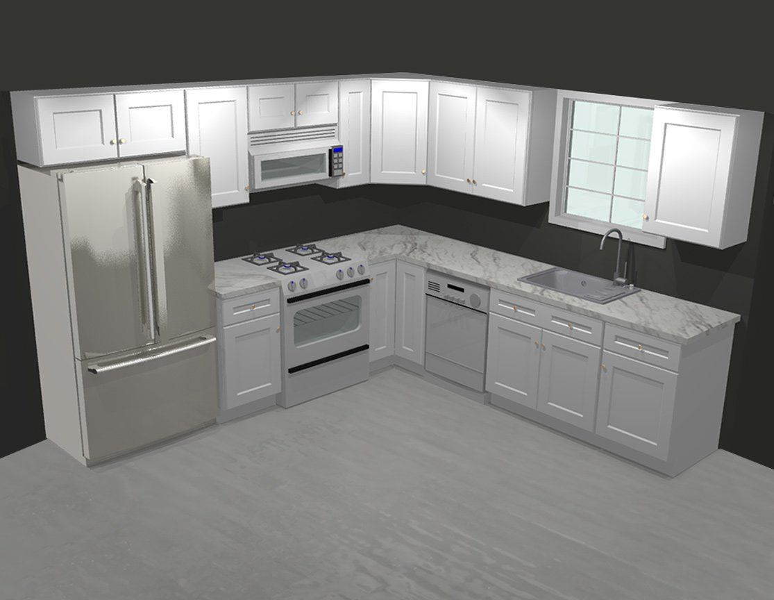 Tsg Forevermark Uptown White 10x10 Kitchen Cabinet Kitchen Layout Plans 10x10 Kitchen Kitchen Remodel Small