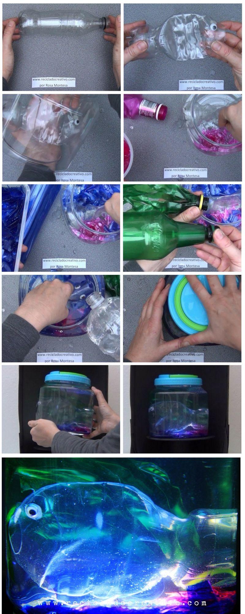 Paso A Paso Acuario Artificial Con Botellas De Plástico Botellas De Refresco Botellas Plasticas Refrescos De Cola