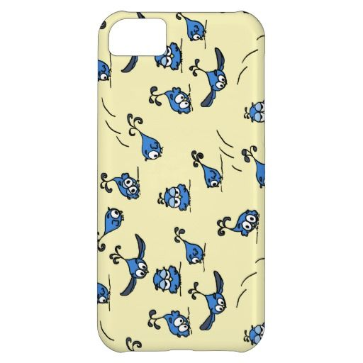 Playful Baby Owls on Blue iPhone 5C Cas $44.95