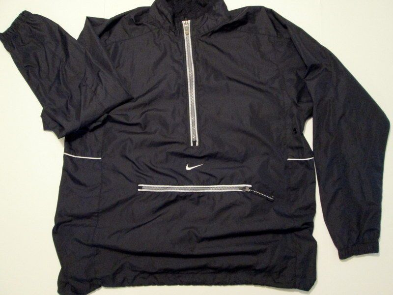 46f8bd03e217 Women s NIKE Black Windbreaker Reflector Running Golf Pullover Jacket M   Nike  Windbreaker