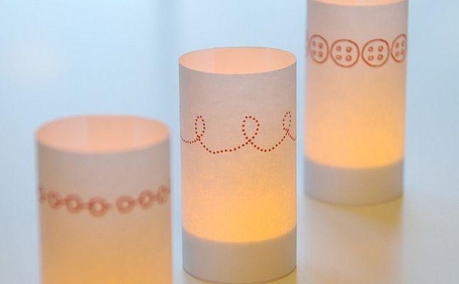 DIY Festive Candle Wraps